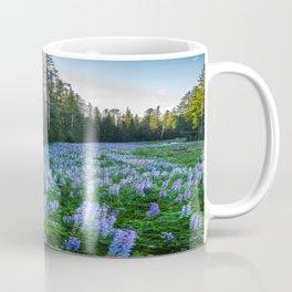 High Country Lupine - Purple Wildflowers in Montana Mountains Coffee Mug