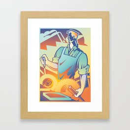 Gears Framed Art Print
