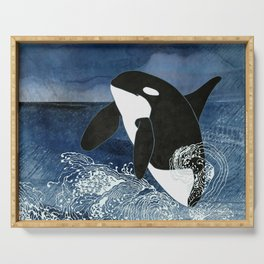 Killer Whale Orca Serving Tray