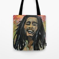 rasta Tote Bags featuring Rasta  Man by gretzky