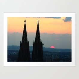 Cologne Cathedral Sunset Art Print