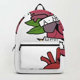 Heart Heavy Burden Motivated And Inspired Gift Backpack