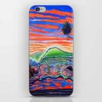 psychadelic iPhone & iPod Skins featuring  Surf Art Psychadelic  by Surf Art Gabriel Picillo