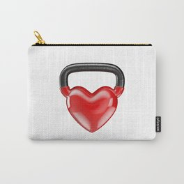 Kettlebell heart vinyl / 3D render of heavy heart shaped kettlebell Carry-All Pouch