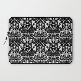 Bats And Beasts - Black and White Laptop Sleeve