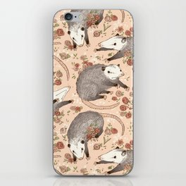 Opossum and Roses iPhone Skin