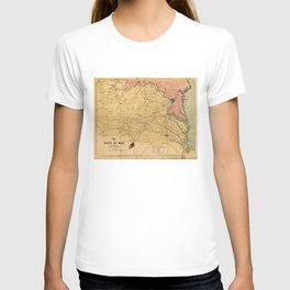 Map of the Seat of War, Virginia & Maryland (1861) T-shirt