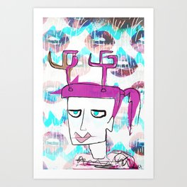 HORNY Art Print