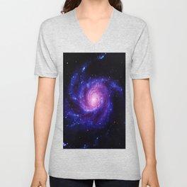 Spiral gAlAxy : Purple Blue Unisex V-Neck