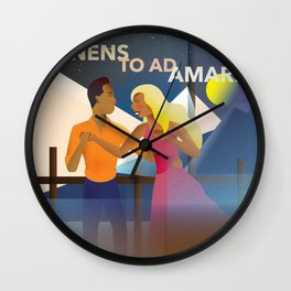 Holding on to Love Wall Clock