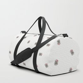 Baby Owl with Flower Crown Duffle Bag