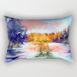 Autumn lake Rectangular Pillow