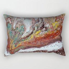 Naissance, acrylic on canvas Rectangular Pillow