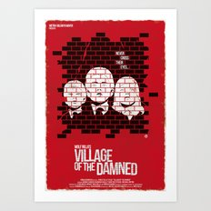 Village Of The Damned (Red Collection) Art Print