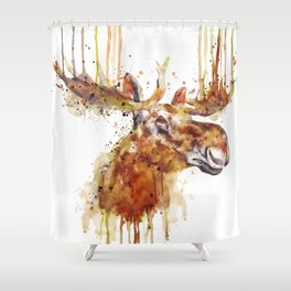Moose Head Shower Curtain