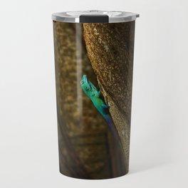 Turquoise Bermuda Lizard Travel Mug