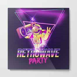 Synthwave Space #30 Metal Print