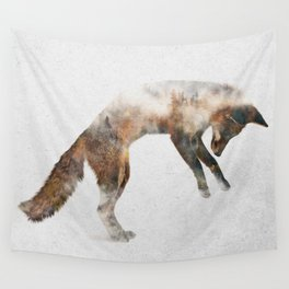 Jumping Fox Wall Tapestry