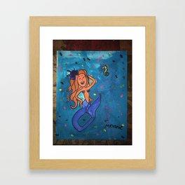Melanie's Mermaid Framed Art Print