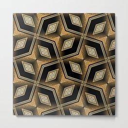 Earthman   Geometric Diamonds Metal Print