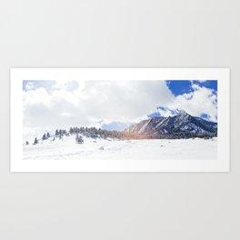 Flatirons in Snow Art Print