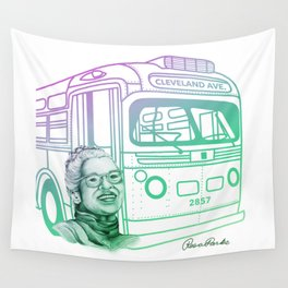 Rosa Parks, Courageous Woman Wall Tapestry