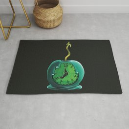Haunted Mansion 13th Hour Clock Apple Rug