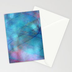 Blue tornado with fairy lights Stationery Cards