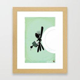 """Glue Network Print Series """"Hunger"""" Framed Art Print"""