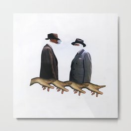 Two Suspects Collage Metal Print