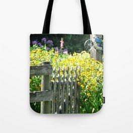 Quaint Country Gate Tote Bag