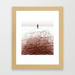 Drawn with a stick Framed Art Print