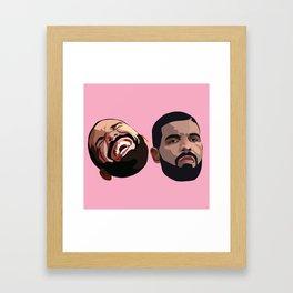 COMEDY & TRAGEDY Framed Art Print