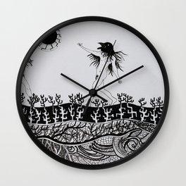 Crows' Dance Wall Clock