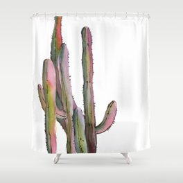Cactuses in green and pink Shower Curtain
