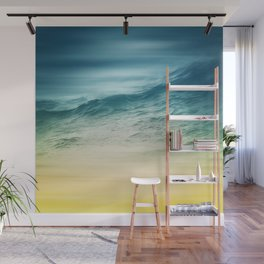 Sunset Waves Wall Mural