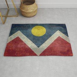 Denver (Colorado) city flag - Vintage version Rug