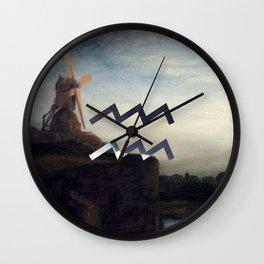 Fine Zodiac / Aquarius Wall Clock