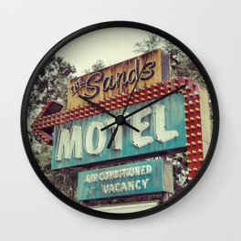 Sands Motel Wall Clock