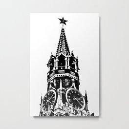 Kremlin Chimes-b&w Metal Print
