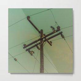 ElectricPole_0001 Metal Print