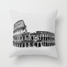 Colosseum Drawing Throw Pillow