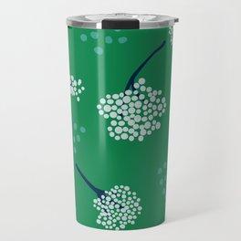 Green Baby's Breath Travel Mug