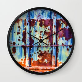 Colorful Rust Abstract II Wall Clock