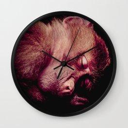 Sleeping Monkey Wall Clock
