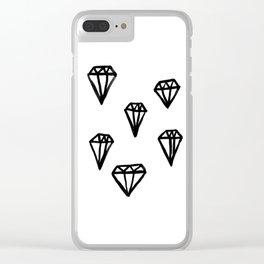 Little Rocks - Diamonds Clear iPhone Case