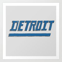 detroit Art Prints featuring Detroit by Matt Edward
