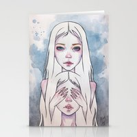 twins Stationery Cards featuring Twins by Black Fury