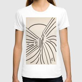 Study of a Man Walking Into the Sun T-shirt