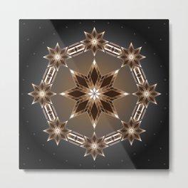 Morning Star Circle (Brown) Metal Print